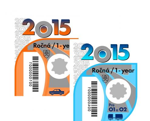 NDS začala predávať diaľničné nálepky na rok 2015