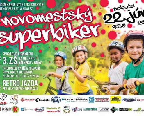 Novomestský superbiker 2019 plagát